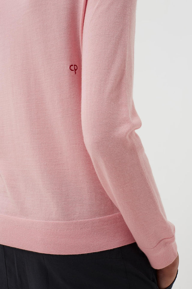 Pink Cashmere Strawberry Badge Sweater image 4