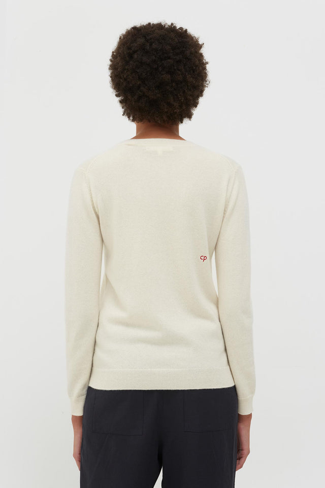 Cream Cashmere Strawberry Love Sweater image 5