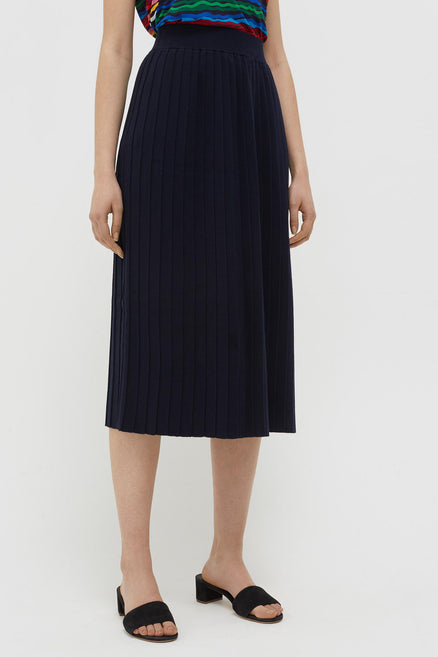 Navy Cotton Day Dreamer Skirt
