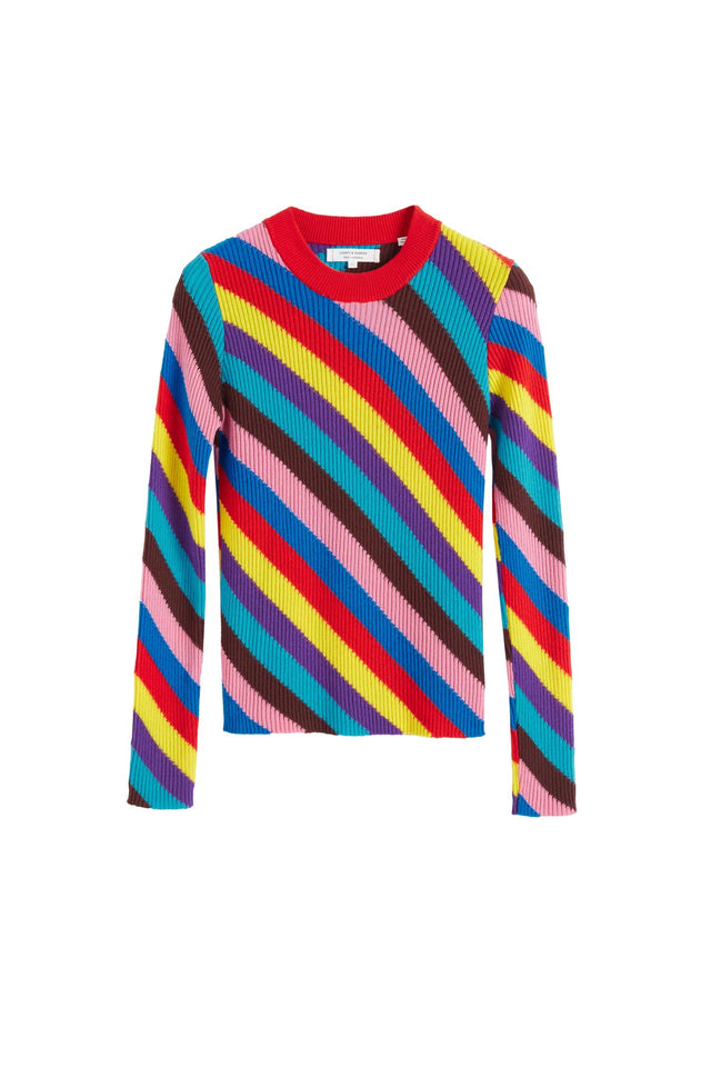 Multicoloured Rib-Knit Cashmere Vanessa Sweater image 2