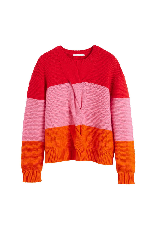 Red Giant Cable Wool-Cashmere Sweater image 2