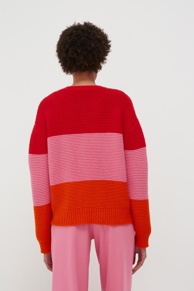 Red Giant Cable Wool-Cashmere Sweater image 3
