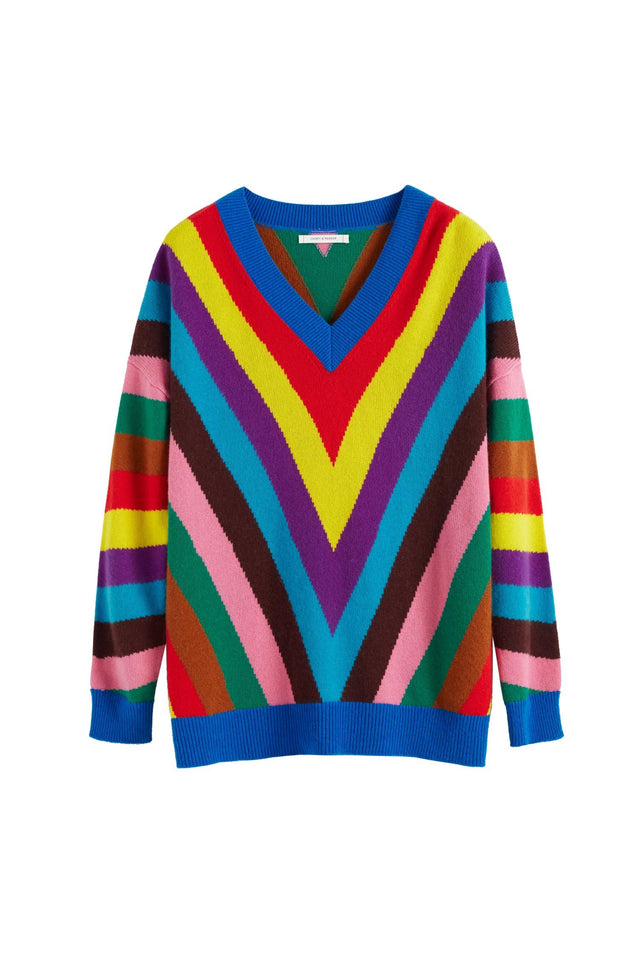 Multicolour Virginia Striped Wool-Cashmere Sweater image 2