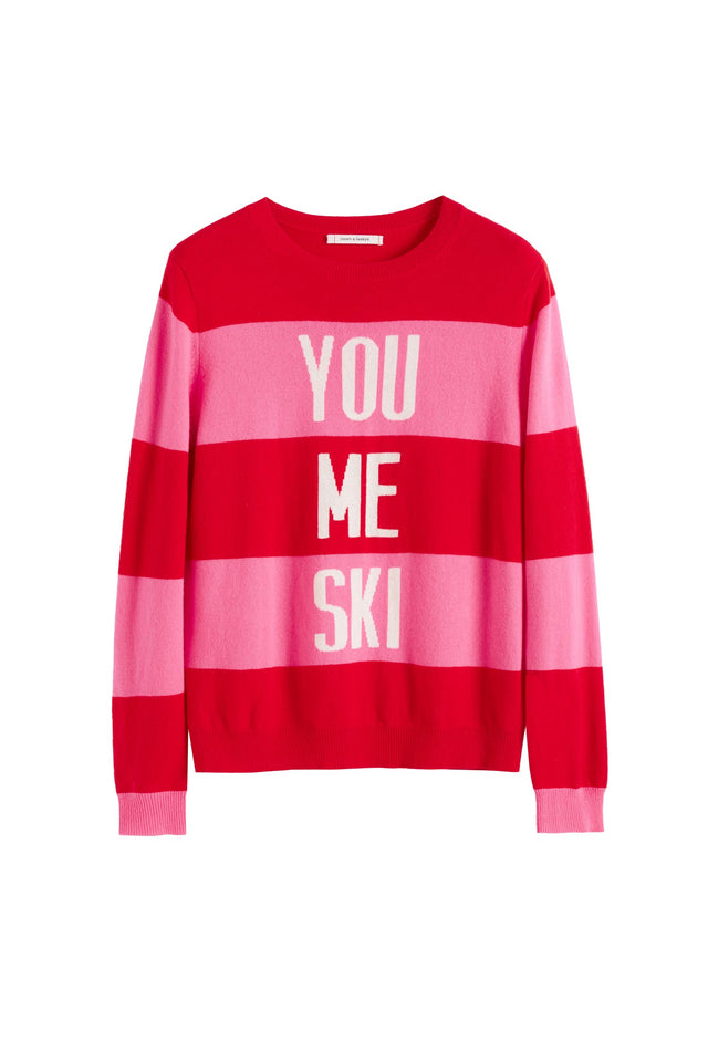 Red You Me Ski Wool-Cashmere Sweater image 2
