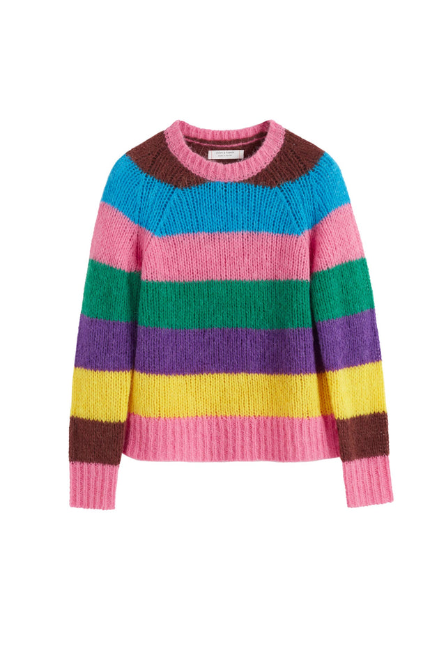 Multicoloured Striped Alpaca-Merino Sweater image 2