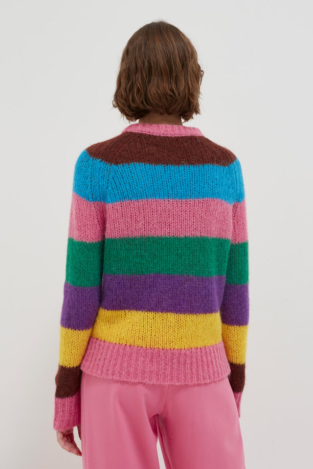 Multicoloured Striped Alpaca-Merino Sweater image 5
