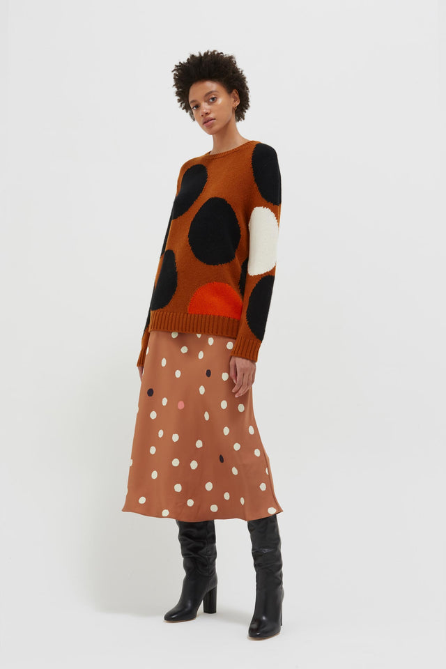 Ginger Dot Wool-Cashmere Sweater image 4