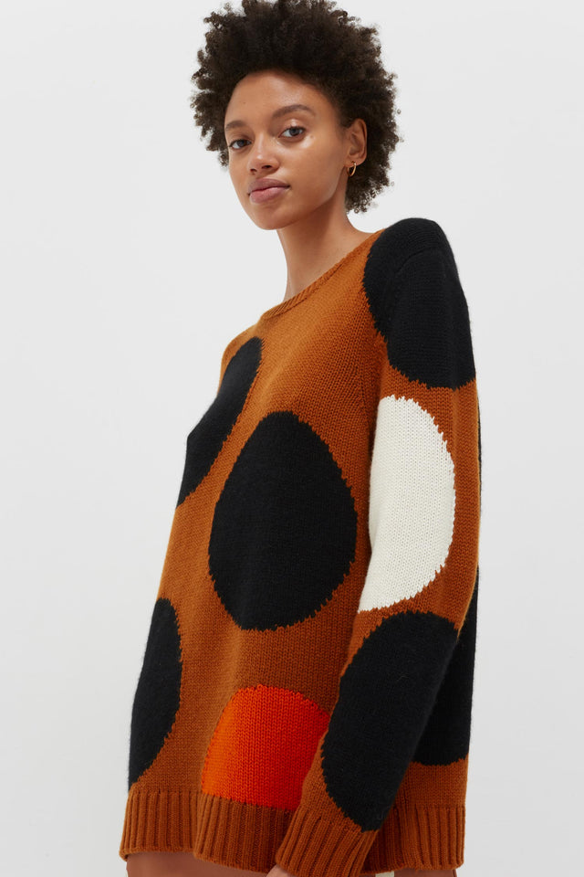 Ginger Dot Wool-Cashmere Sweater image 3