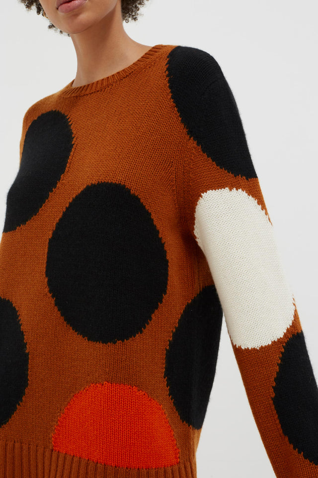 Ginger Dot Wool-Cashmere Sweater image 6