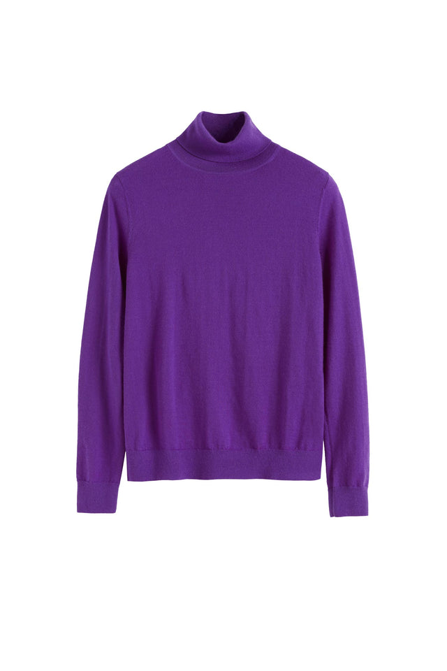 Purple Rollneck Cashmere Pop Sweater image 2