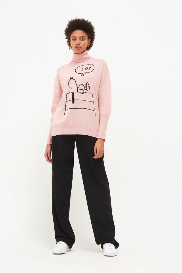 Pink Snoopy So? Cashmere Sweater image 3