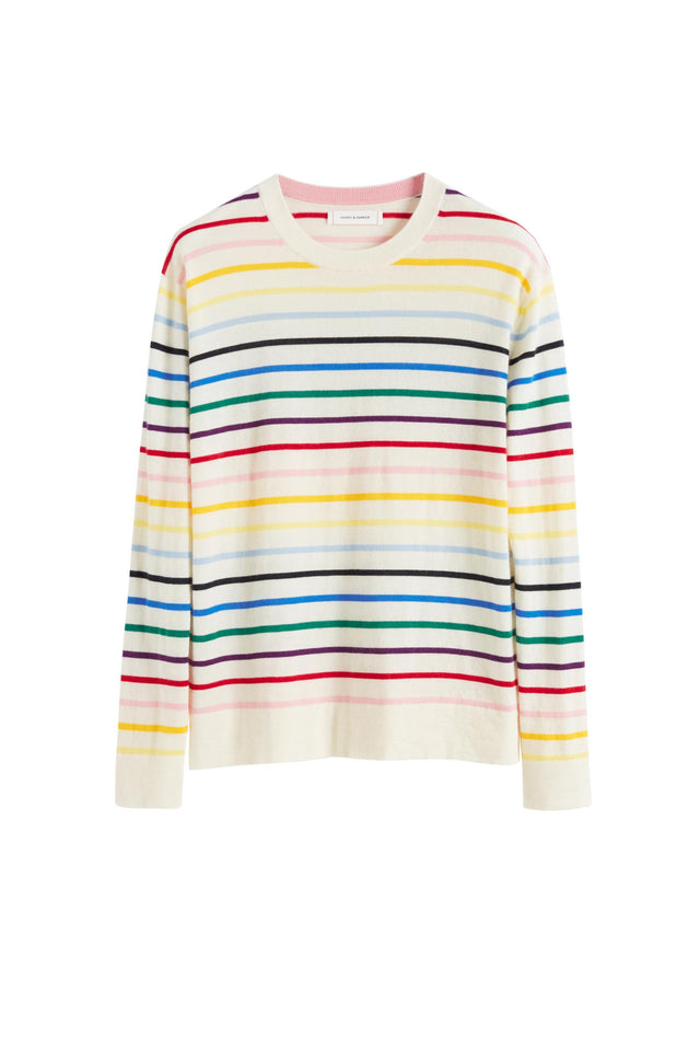 Rainbow Stripe Cashmere Sweater image 2