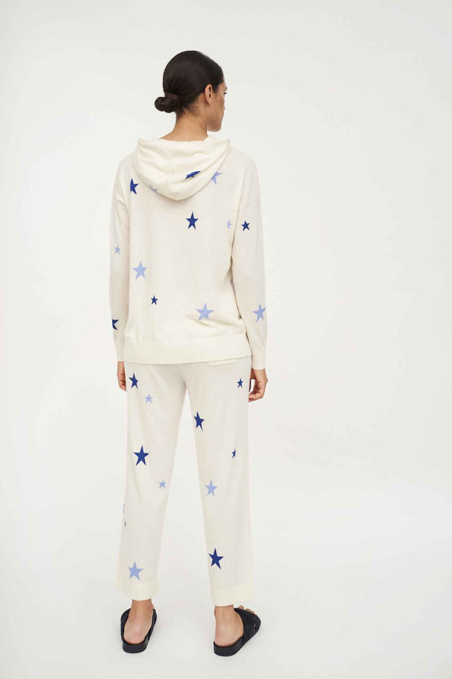 Cream Star Cashmere Cropped Lounge Pants image 5
