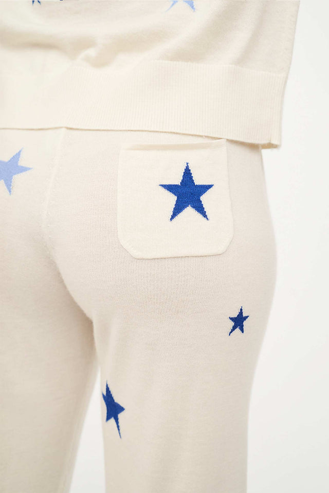 Cream Star Cashmere Cropped Lounge Pants image 6