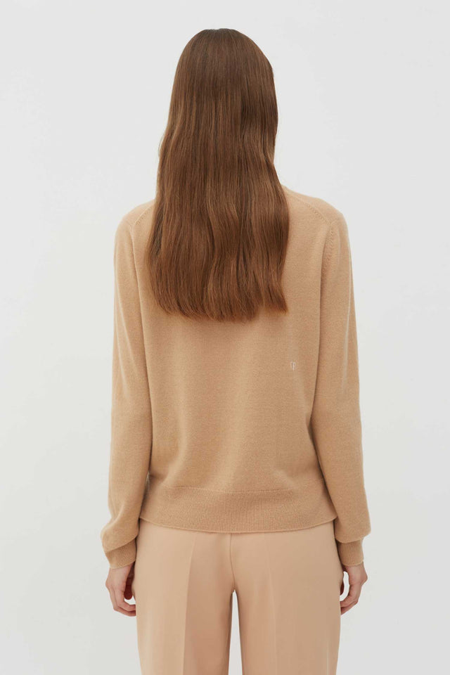 Beige Slogan Wool-Cashmere Sweater image 4