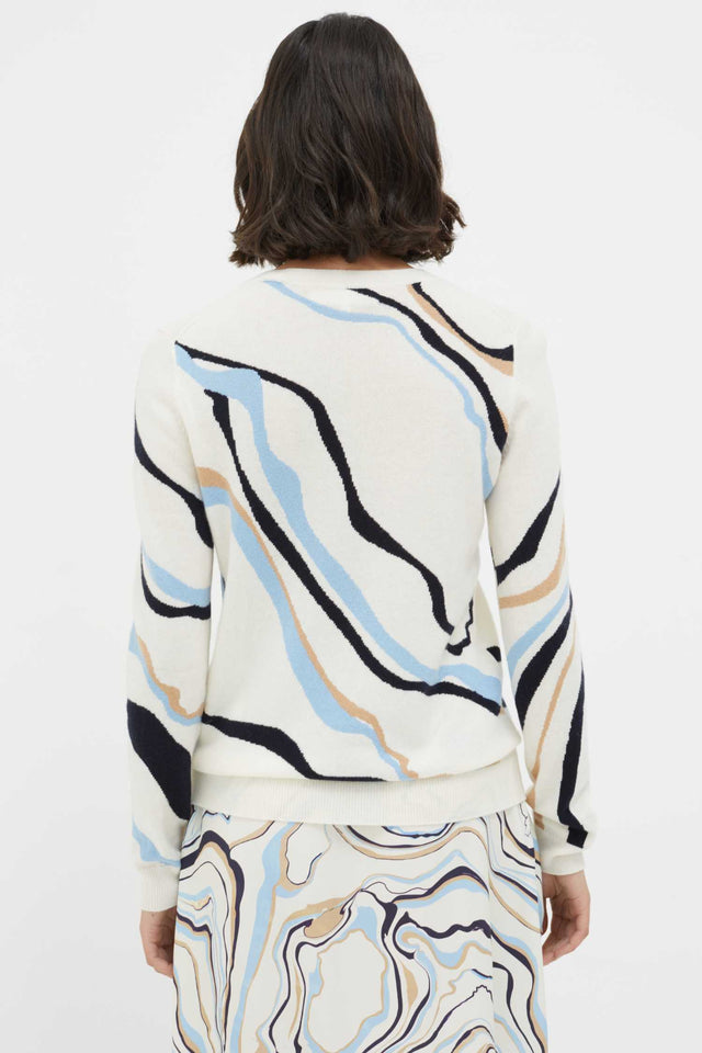 Cream Marble Wool-Cashmere Sweater image 2