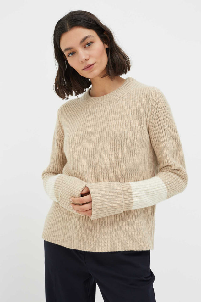 Biscotti Turned Cuff Cashmere Sweater image 1