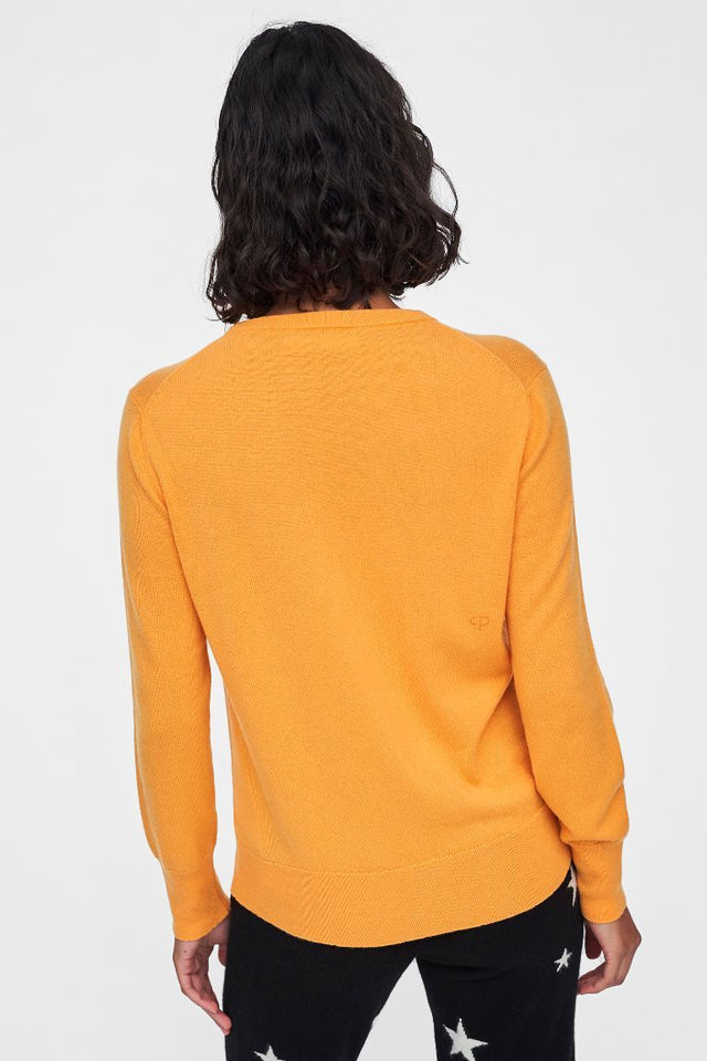 Yellow Repurposed Cashmere Sweater image 2