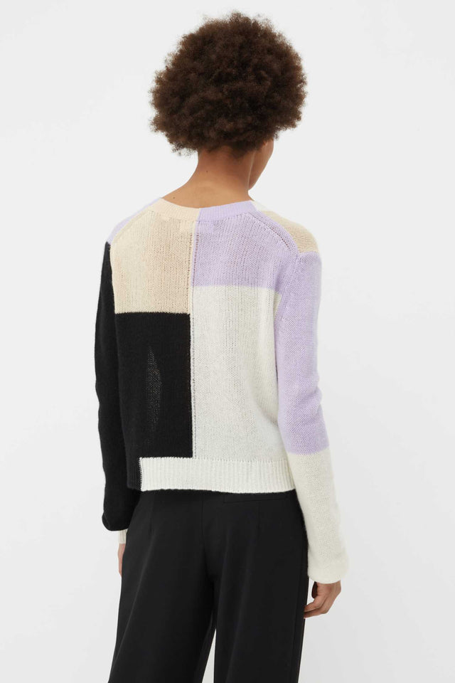 Lilac Colour Block Mohair-Wool Cardigan image 5