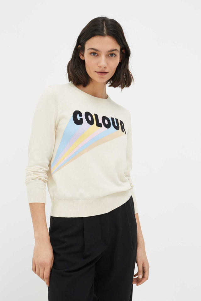 Cream Colour Cotton Sweater image 1