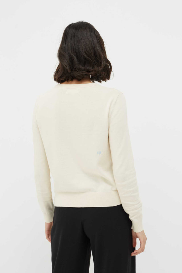 Cream Colour Cotton Sweater image 3
