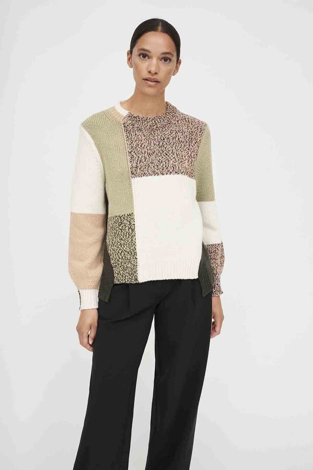 Stone Asymmetric Wool-Cashmere Sweater image 3