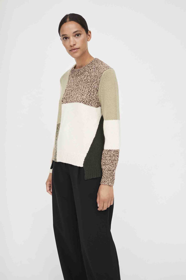 Stone Asymmetric Wool-Cashmere Sweater image 4