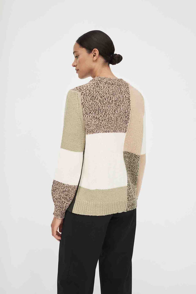 Stone Asymmetric Wool-Cashmere Sweater image 5
