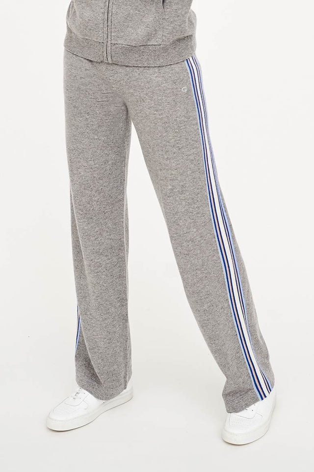 Grey Lines Wool-Cashmere Wide-Leg Pants image 1