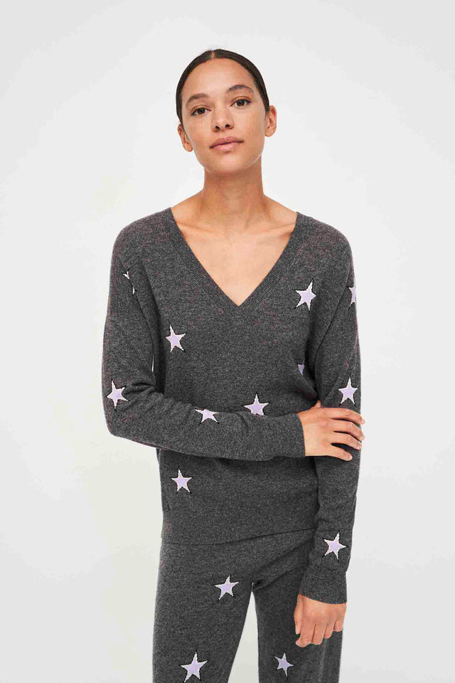 Grey Star Wool-Cashmere V-Neck Sweater image 3