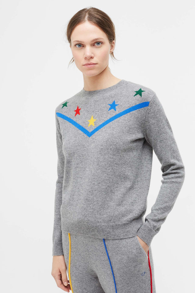 Grey L'Etoile Magique Wool Sweater image 1