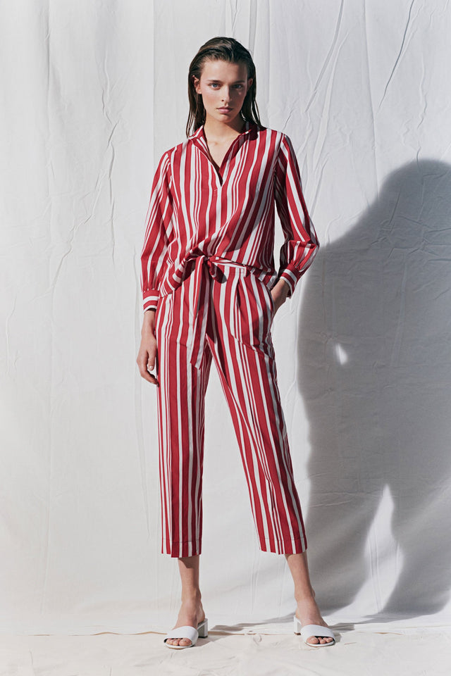 Red Striped Parasol Blouse image 3