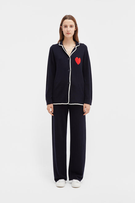 Navy Love Heart Pyjama Bottom