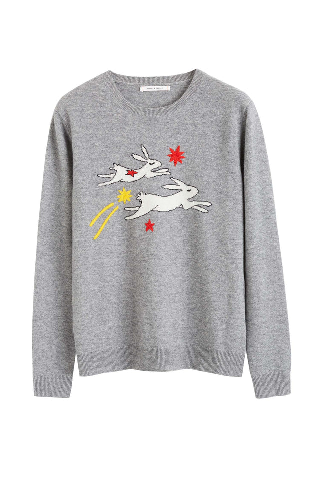Grey Magic Bunny Cashmere Sweater image 2