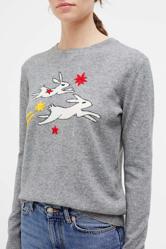 Grey Magic Bunny Cashmere Sweater image 4