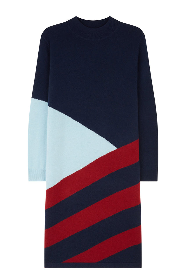 Navy Mexicano Turtle Neck Dress image 2