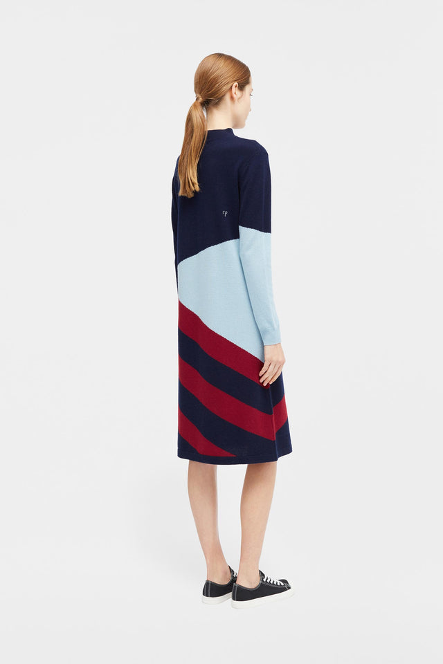 Navy Mexicano Turtle Neck Dress image 4