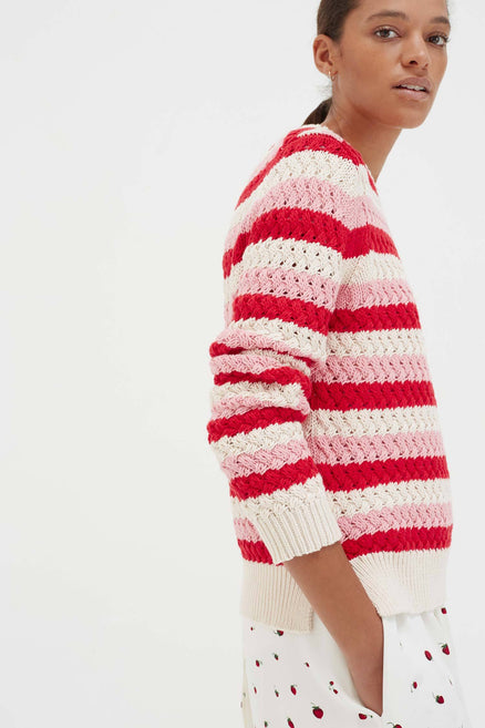 Pink Cotton Mirage Sweater