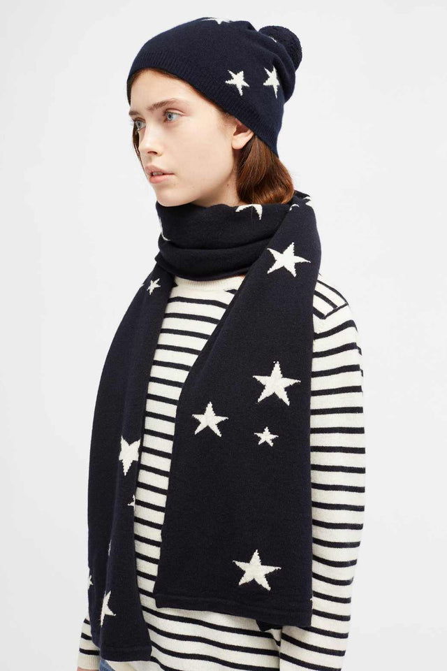 Navy Cashmere Star Hat image 3