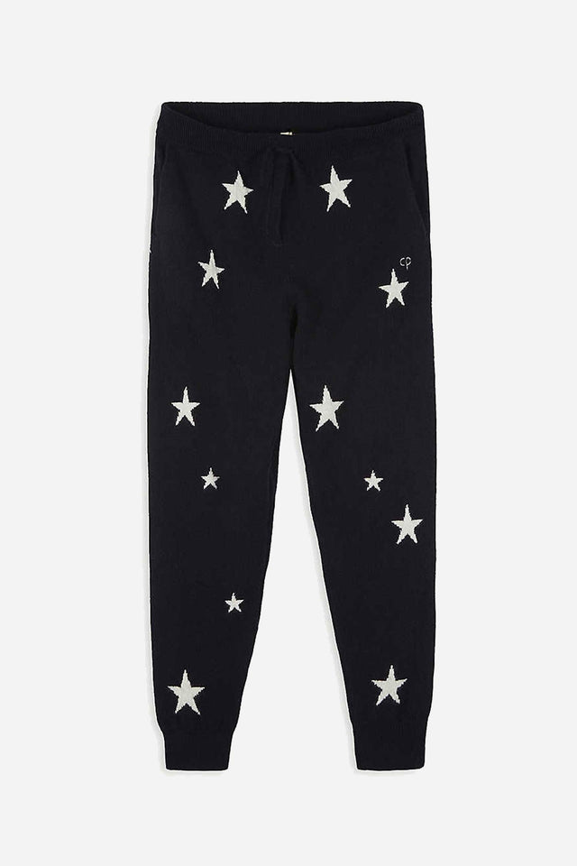 Navy Cashmere Star Track Pants 8-12 Years image 1