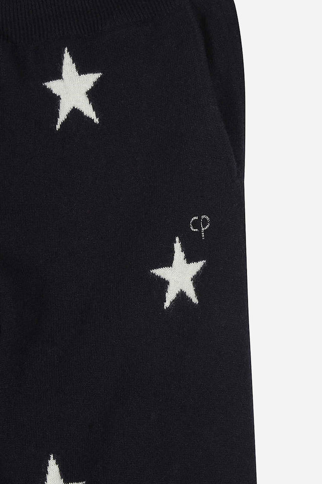 Navy Cashmere Star Track Pants 8-12 Years image 4