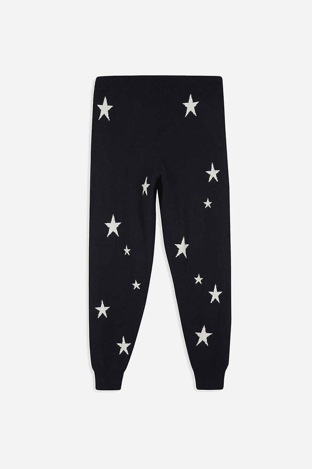 Navy Cashmere Star Track Pants 8-12 Years image 3