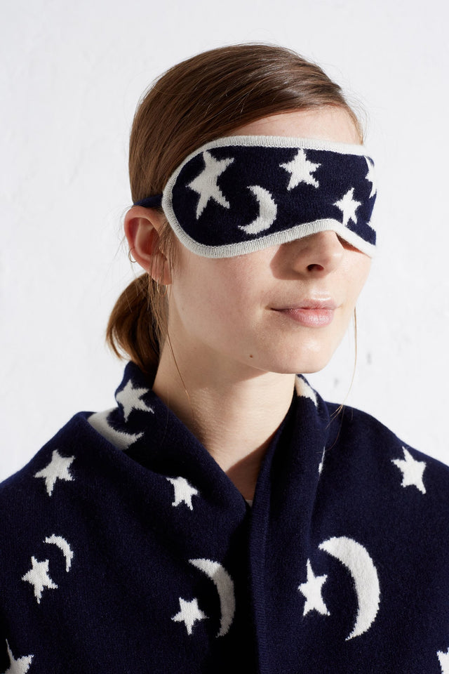 Navy Moon And Star Eye Mask image 3
