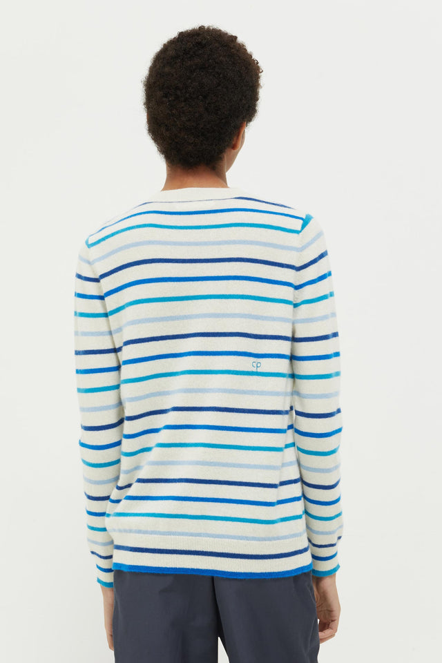 Blue Breton Stripe Cashmere Sweater image 5