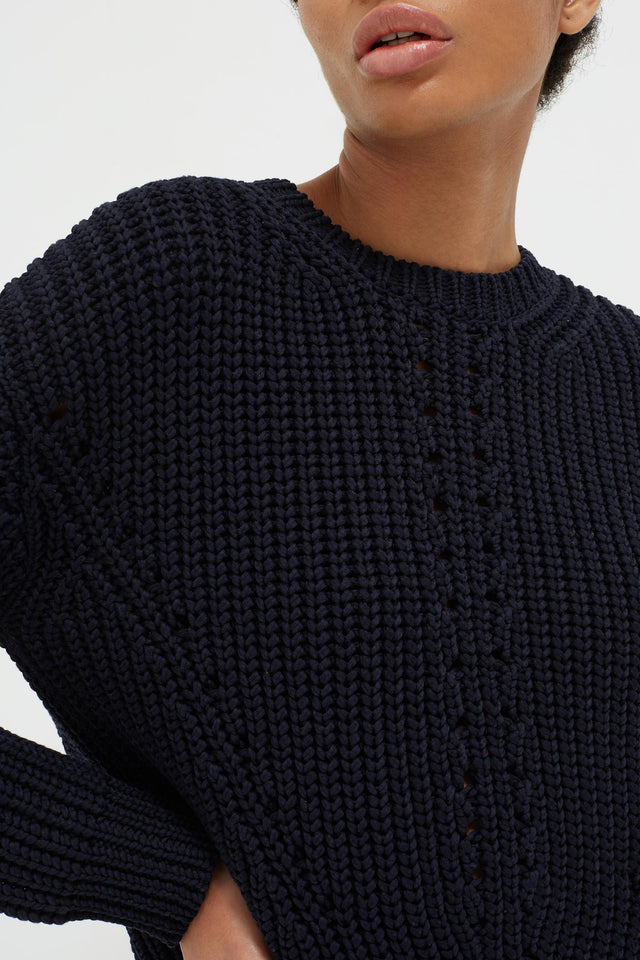 Navy Le Soir Crew Neck Sweater image 4