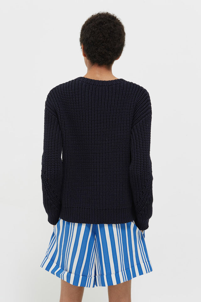 Navy Le Soir Crew Neck Sweater image 5
