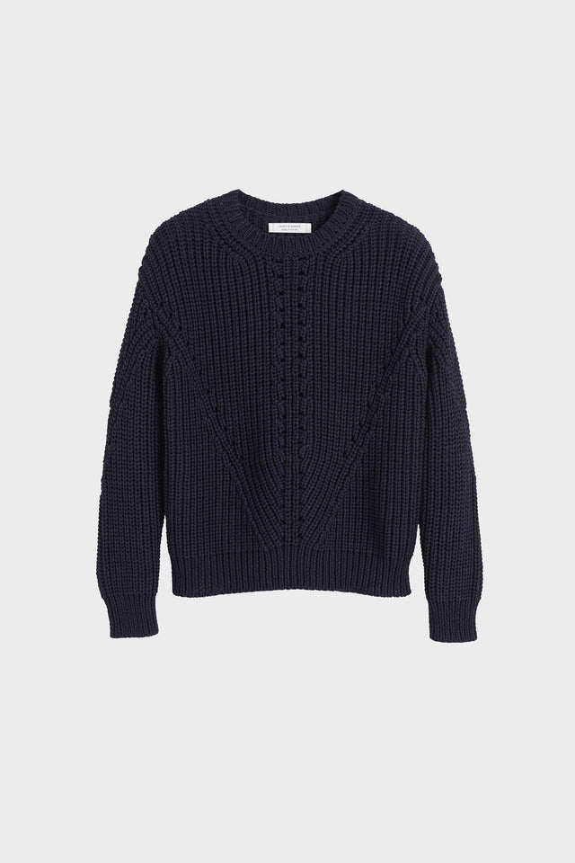 Navy Le Soir Crew Neck Sweater image 2