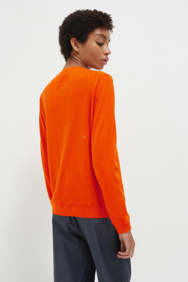 Orange Lemon Badge Cashmere Sweater image 5