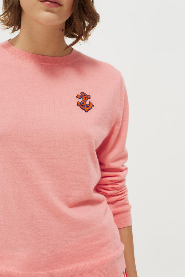 Pink Anchor Badge Cashmere Sweater image 4