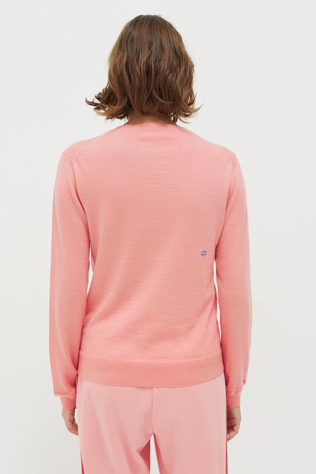 Pink Anchor Badge Cashmere Sweater image 5